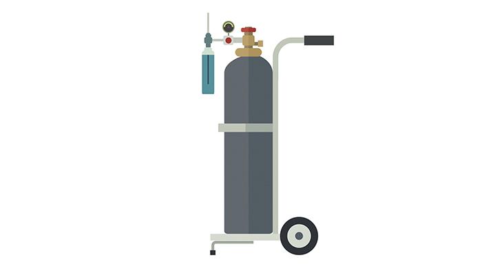 Oxygen tank graphic