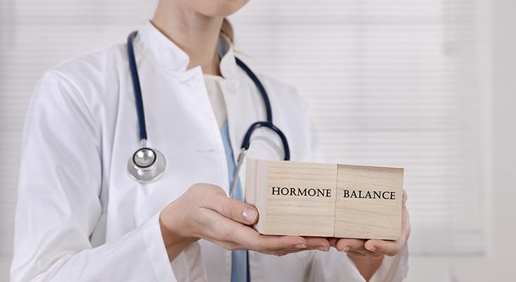 Female Hormone balance , Gynecology concept