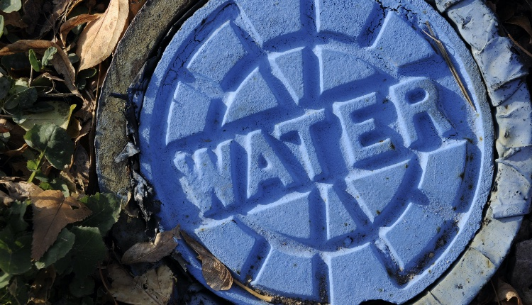 Municipal Urban City Utility Infrastructure; Blue Water Main Cap