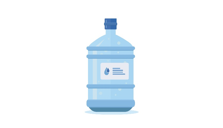 Water bottle vector cartoon illustration