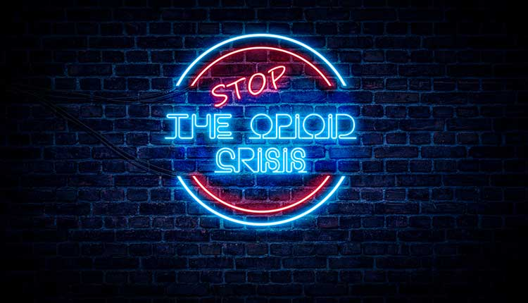 STOP The Opioid Crisis sign