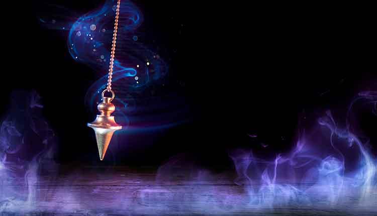 Pendulum Swinging In Magic Background
