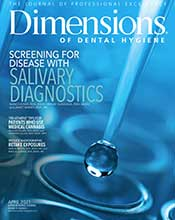 Cover of Dimensions April 2021 issue