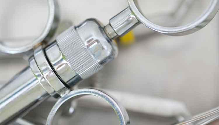 A special dental syringe for anesthetics