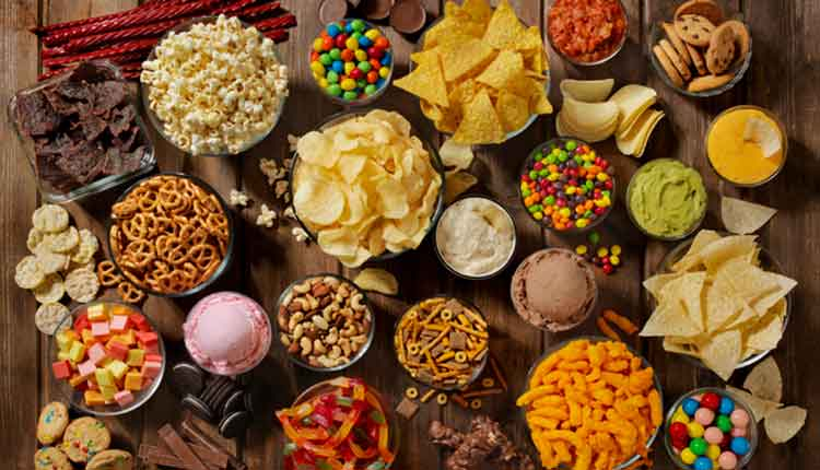 table full of sugary foods